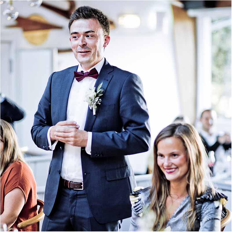 tale til bryllup i Odense C